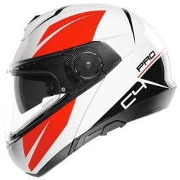 Schuberth C4 Pro Merak white flip-up helmet