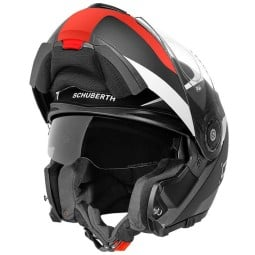 Schuberth C3 Pro Sestante red flip-up helmet