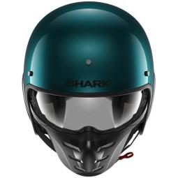 Casque jet Shark S-Drak 2 Blank vert pétrole