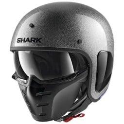Casque jet Shark S-Drak 2 Blank argent glitter