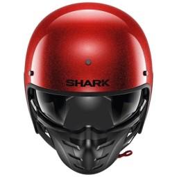 Casco moto Shark S-Drak 2 Blank rojo glitter
