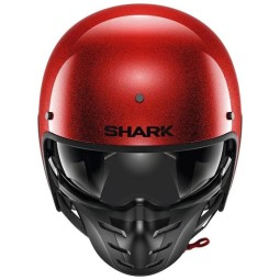 Casque jet Shark S-Drak 2 Blank rouge glitter