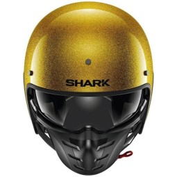 Casco moto Shark S-Drak 2 Blank oro glitter