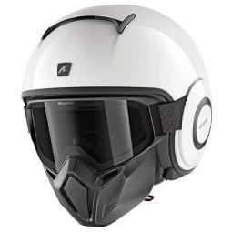Shark Street Drak Blank white azur helmet