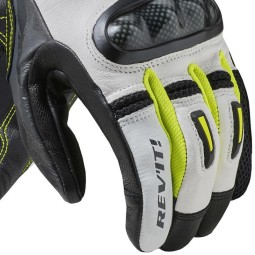 Revit Prime white yellow motorcycle gloves