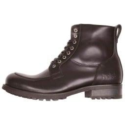 Hesltons Oxford black motorcycle shoes