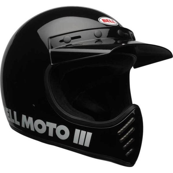 Motorcycle Helmet Vintage BELL HELMETS Moto 3 Black
