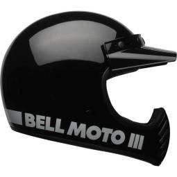 Casco Moto Vintage BELL HELMETS Moto 3 Nero