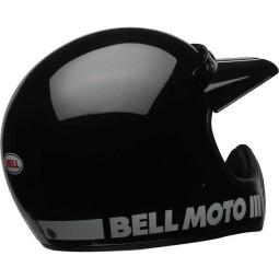 Casco Moto Vintage BELL HELMETS Moto 3 Negro