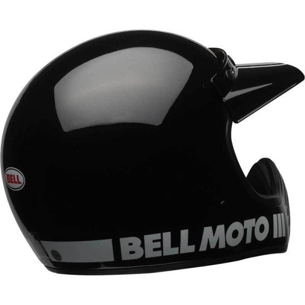 Motorrad Helm Vintage BELL HELMETS Moto 3 Schwarz