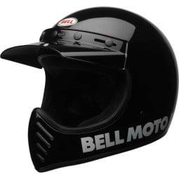 Casco Moto Vintage BELL HELMETS Moto 3 Nero, Caschi Vintage