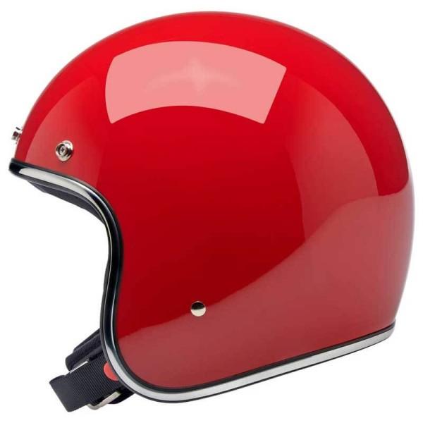 Biltwell Bonanza helmet open face gloss blood red