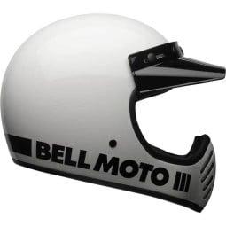 Casque Moto Vintage BELL HELMETS Moto 3 Blanc ,Casques Vintage