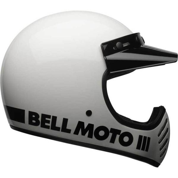 Casco Moto Vintage BELL HELMETS Moto 3 Blanco