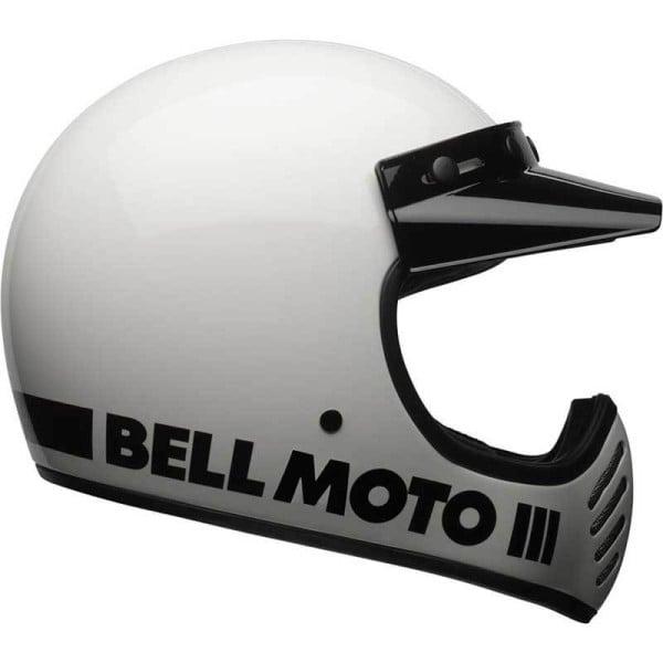 Motorcycle Helmet Vintage BELL HELMETS Moto 3 White
