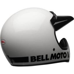 Motorrad Helm Vintage BELL HELMETS Moto 3 weiß