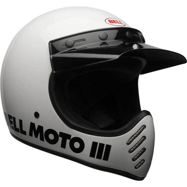 Casque Moto Vintage BELL HELMETS Moto 3 Blanc