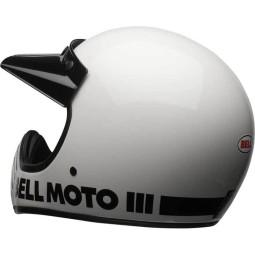 Casco Moto Vintage BELL HELMETS Moto 3 Bianco, Caschi Vintage