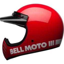 Casco Moto Vintage BELL HELMETS Moto 3 Rosso, Caschi Vintage