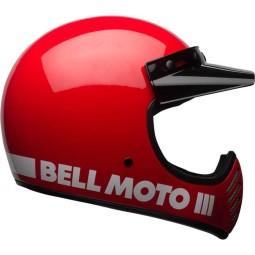 Casco Moto Vintage BELL HELMETS Moto 3 Rojo