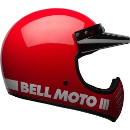Casque Moto Vintage BELL HELMETS Moto 3 Rouge ,Casques Vintage
