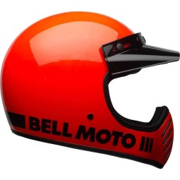 Casque Moto Vintage BELL HELMETS Moto 3 Orange