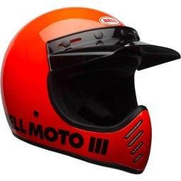 Casque Moto Vintage BELL HELMETS Moto 3 Orange ,Casques Vintage
