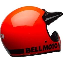 Motorrad Helm Vintage BELL HELMETS Moto 3 Orange