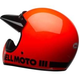 Casco Moto Vintage BELL HELMETS Moto 3 Arancione, Caschi Vintage