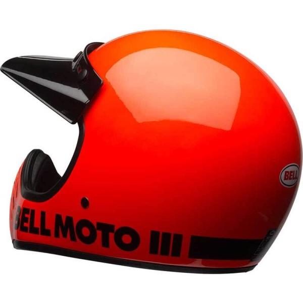 Casco Moto Vintage BELL HELMETS Moto 3 naranja