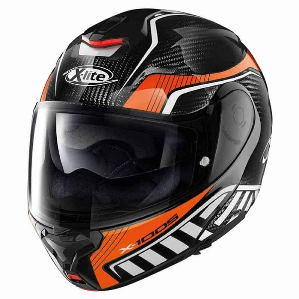 X-lite X-1005 Ultra Carbon Cheyenne helmet black orange
