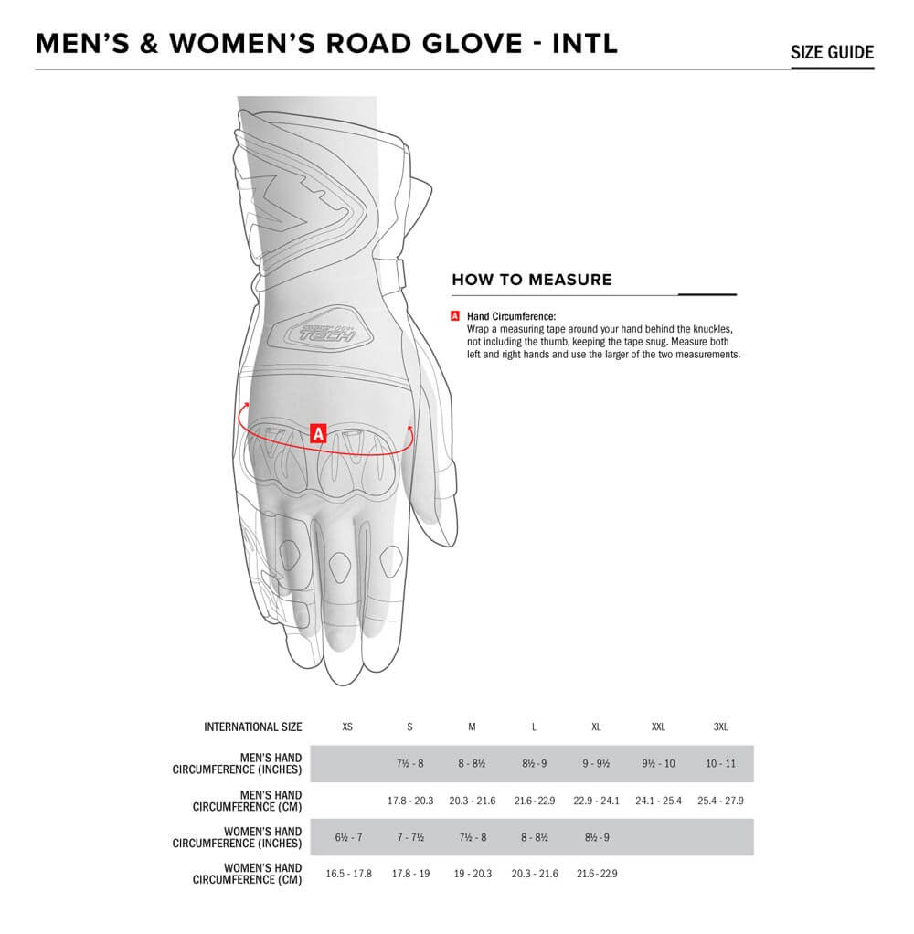 Alpinestars Size Chart Gloves