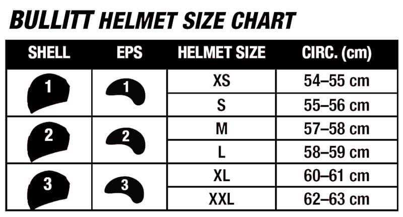 Bell Helmets Bullitt Size Chart