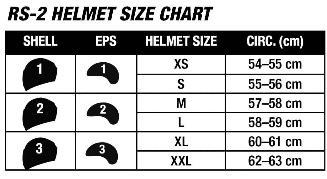 Bell Helmets RS-2 Size