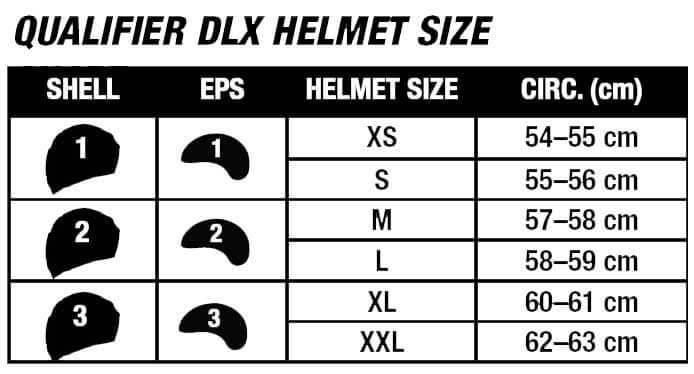 Bell Helmets Size Chart QUALIFIER DLX MIPS