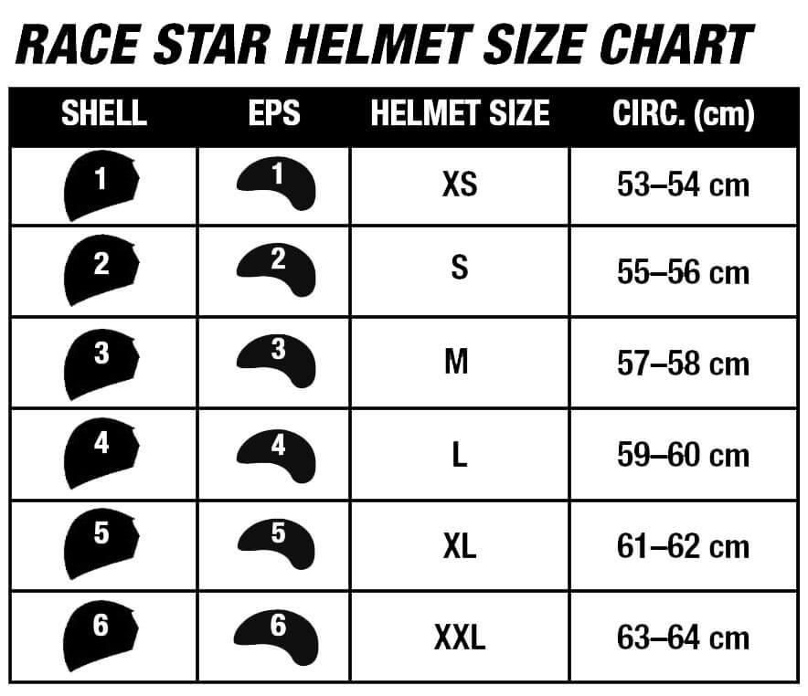 Bell Helmets Size Chart Race Star