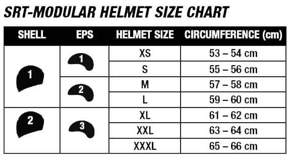 Bell Helmets Size Chart SRT MODULAR
