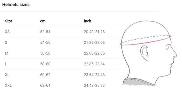 Blauer HT Helmet Size Chart