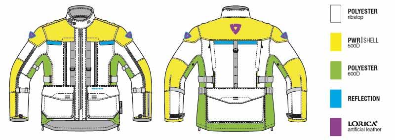 Revit L Sable Moto Sand Tissu Taille Noir Veste 3 qwB4H8E