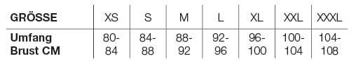 Helstons Size Chart DE DONNA