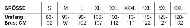 Helstons Size Chart DE