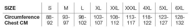 Helstons Size Chart EN