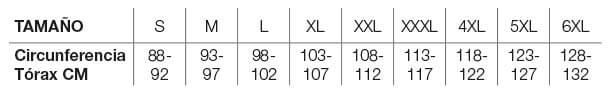 Helstons Size Chart ES