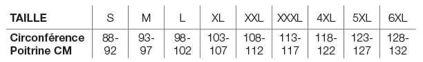 Helstons Size Chart FR