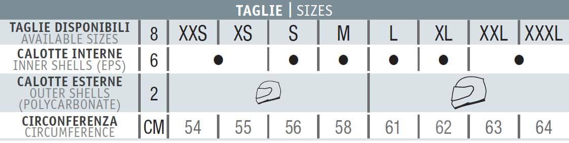 Nolan N87 Size Chart