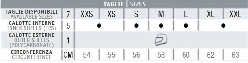Nolan N90-2 Size Chart