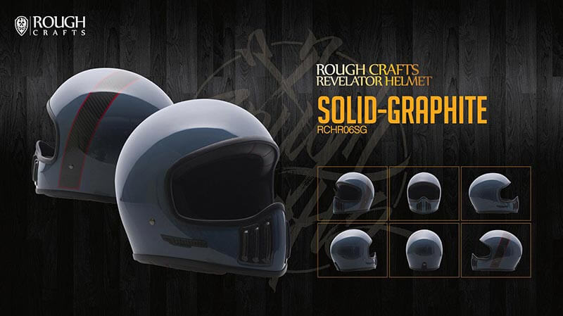 ROUGH CRAFTS REVOLATOR HELMET-Solid-Graphite